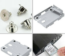 PS3 Super Slim Hard Disk Drive HDD Mounting Bracket Caddy For Sony + Screws MGUS
