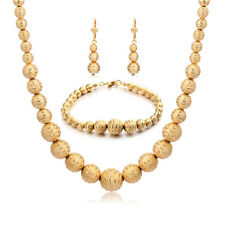 Fashion Indian bridal Beads Necklace Jewelry sets Statement Vintage Gold filled