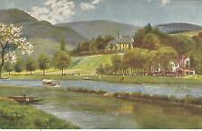 Stiftsmühle und Stift Neuburg bei Heidelberg, alte Ansichtskarte um 1910