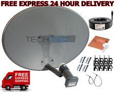 Complete MK4 Satellite Dish Kit + Sky HD Quad LNB & 20m RG6 Black Coax Cable