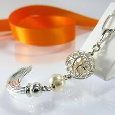 A279 Anhänger Quaste 925 Sterling Silber Schmuck mit Swarovski Elements Perlen