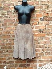 Ladies Skirt. Leather Skirt,UK 12. 100% Suede, Mink.beige. Monsoon.