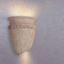 Wandleuchte Wandlampe Amphorenform Steinoptik antik Lampe Leuchte Beleuchtung