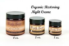 1 oz. ANTI AGING NIGHT CREAM Moisturizer Skin Wrinkle Cell Organic Face Vegan