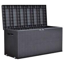 Gartentruhe Nizza Rattan-Design Rollbox Auflagenbox Kissen Aufbewahrung Truhe