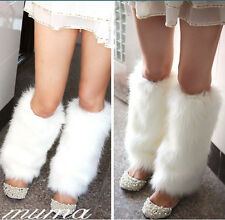 New Ladies Fashion Boot Cuff Fluffy Soft Furry Faux Fur Leg Warmers Boot Toppers