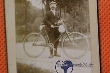 org. Foto CDV Fahrrad um 1900  Polenzthal