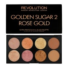 Makeup Revolution ( GOLDEN SUGAR 2-ROSE GOLD ) Ultra Blush-Highligher Palette