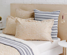 Pair of Sheridan Hamersley Standard Pillow Cases in Wheat RRP $69.95