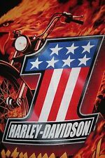 """NEW GENUINE HARLEY DAVIDSON """"EXTREME HEAT"""" MED. T SHIRT TOP QUALITY HEAVY COTTON"""