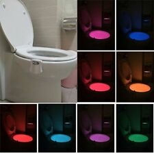 Body Sensing Automatic LED Motion Sensor Night Lamp Toilet  Light 8 Colors