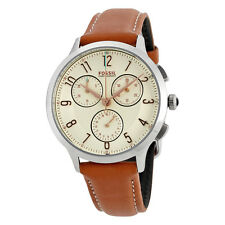 Fossil Abilene Chronograph White Dial Ladies Watch CH3014