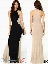 Womens Evening Dress Maxi, Ball Prom Black Party Formal Long Celeb Size 8 10 12