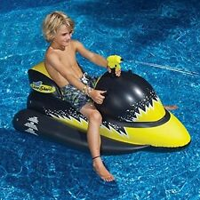 NEW Swimline Laser Shark Wet Ski Ride On Inflatable Pool Water Toy Squirt 9076