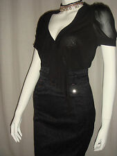 BNWT Karen Millen Black sheer top Grey leopard work dress UK 8