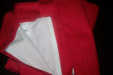 NEW IKEA TABY LINED Pair of CURTAINS..140 wideX165cm.... Red ....no tie back