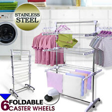 Portable 6 Tiers Indoor Clothes Airer Horse Laundry Drying Rack Garment Hangers