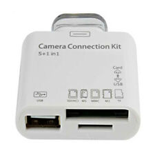 5 in 1 Camera Connection Kit USB TF SD Card Reader for iPad 2 3