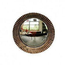 Small Round Gold Convex Porthole Mirror, 23cm