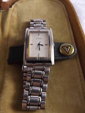AUTHENTIC ~ GUESS ~ LADIES STAINLESS STEEL WATCH ~ WITH CASE & MANUAL