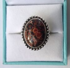 QVC Red Jasper Sterling Silver Ring Size R