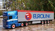 "Herpa  Scania R 2013 Schubboden-Sattelzug""Eurolink"" (S)  305617  1:87"