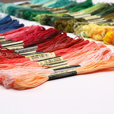 250 Skeins Cross Stitch Cotton Embroidery Thread Floss 100% Egyptian Cotton