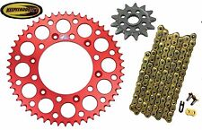 Front and Rear Red Sprocket 13 48 Gold Chain Fits Honda Crf250 2011-2016 Crf250r