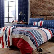 """CATHERINE LANSFIELD 66"""" x 72"""" STARS AND STRIPES PAIR CURTAINS, TAB TOP"""