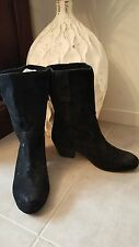 """TONY BIANCO SZ 6.5 'Chestnut"""" Black Suede Boots RRP $ 189.95 Buy Any 3=Free Post"""
