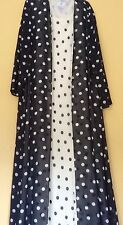 Simon Ellis London. Ladies Matching Chiffon Dress And Coat. Polka Dot