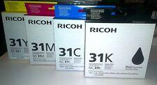 4x Ricoh Patronen GC 31K GC 31C GC 31M GC 31Y GXe7700 GXe5550n Satz Set | G-L-16