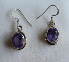 Alexandrite synth. earrings Color change 925 Silver alexendrite faceted Pretty