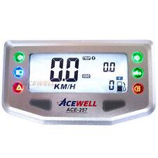 Motorrad Acewell Digital Tacho ACE-257 silber 6 Kontrollleuchten