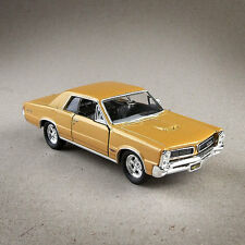 1965 Pontiac GTO Metallic Gold Die-Cast Model Car Doors Open Pull Back