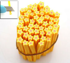 20x 250012 Free Ship New Yellow Flowers Fimo Rods Nail Art Jewelry Making