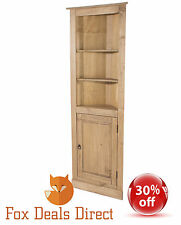 Pine Corner Display Unit Cabinet PREMIUM Corona Rustic Mexican Cupboard Waxed