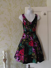 Retro 50s look RED HERRING cotton dress floral print net underskirt BNWOT! UK8