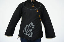 Jacket ladies Hippy india sweater coat hoodie tibetan hippie Ganesh unisex top B