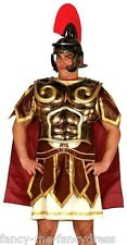 Mens Roman Gladiator Warrior Armour & Cape Fancy Dress Costume Outfit Kit