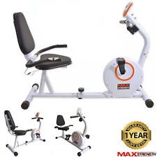MAXSTRENGTH Recumbent 4kg Magnetic Wheel Resistance Exercise Bike Cardio Home