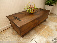 RUSTIC PINE SOLID WOOD CHEST/ TRUNK, COFFEE TABLE.
