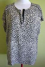Ladies Womens Casual Animal Print Short Sleeve Top Blouse Shirt Millers Size 20