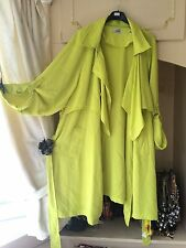 *SIMPLY BE* BRIGHT LIME GREEN SUMMER LONG MAC COAT Dress Size 26 BNWOT LST1LFT