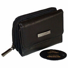 LADIES WOMENS LEATHER PURSE WALLET COIN CARD HOLDER BLACK NEW