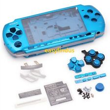 for PSP 3000 Slim Full Housing Shell Case repair parts blue screw door new