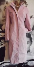 Gorgeous ❤️ Long Karen Millen Pink suedette faux leather coat size 10 - 12