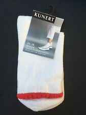 KUNERT elegantes Kurzsöckchen, weiß / rot Gr. 35-38 , Neu, OVP, 5,95 €
