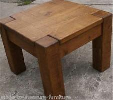 A PAIR OF SOLID WOODEN LAMP BEDSIDE TABLE stand side rustic plank pine furniture