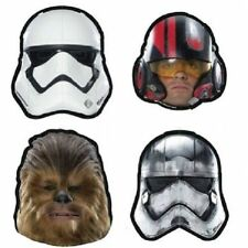 STAR WARS PARTY MASKS - PACK OF 8 - ASST CHARACTERS INCLUDES CHEWBACCA